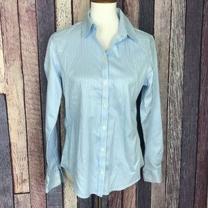 Banana Republic Non-Iron Fitted Striped Top 10/Med